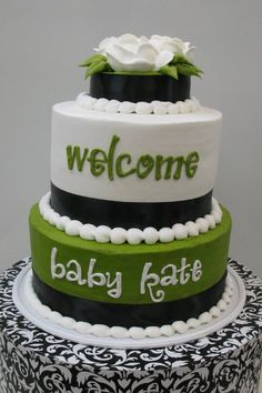 Modern Baby Shower Cake by Stephanie Dillon, LS1 Hy-Vee