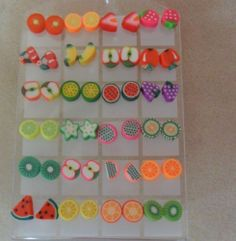 Fimo Earrings Studs Fruit + Free Gift Bag