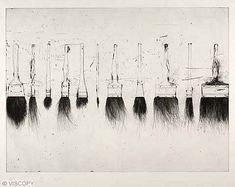Theme: Suspension Five Paint Brushes Artist: Jim Dine. using my own tools to create dripping paintings. an artists tools and their value. Jim Dine, Illustrations, Illustration Art, Auckland Art Gallery, Gravure, Print Artist, Paint Brushes, Painting & Drawing, Paint Brush Drawing