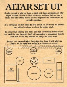 Altar Set Up Diagram & Tips, Book of Shadows Spell Page, Witchcraft, Wicca Altar Source by dukideathhell More from my siteBook of Shadows Spell Pages ** Colors for Candle Magic ** Wicca Witchcraft BOS Wicca Altar, Autel Wiccan, Wiccan Magic, Magick Spells, Wicca Witchcraft, Wicca Wand, Witchcraft History, Real Magic Spells, White Magic Spells