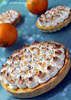 Gathoucook: Tarte à l'orange meringuée