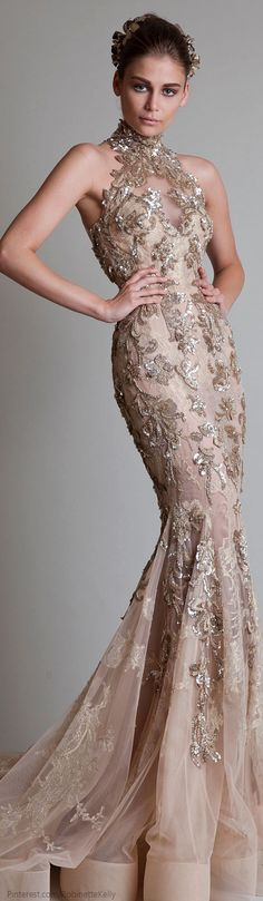 Krikor Jabotian Couture | 2014...would love this in navy or a deep plum~ Tonya Sieperda