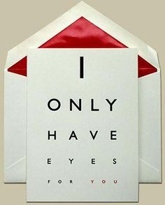 Only have eyes 4 U