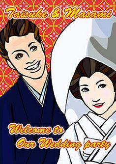 ウェルカムボード 似顔絵 http://wedding.mypic.jp/data/413