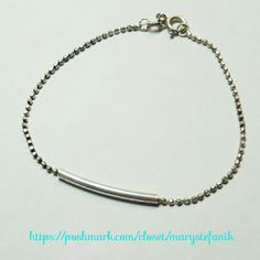 """Dainty .925 Italy Sterling Bar Bracelet Dainty .925 Italy Sterling Bar Bracelet in excellent used condition. Measures 7"""". Perfect for layering.  Please let me know if you have questions. Happy Poshing! .925 Italy  Jewelry Bracelets"""