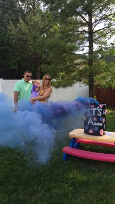 Gender Reveal- smoke bomb, smoke grenade! It's a boy!!!