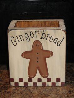 Primitive Gingerbread Wood box