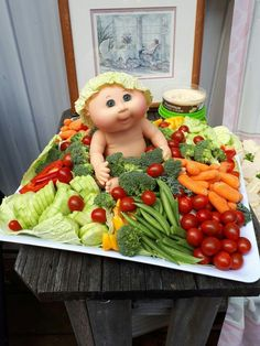 Baby Party Baby Shower cabbage patch veggie tray Buying Bespoke Mens Shirts - The Benefits And What Baby Shower Cakes, Baby Shower Fruit Tray, Baby Shower Appetizers, Baby Shower Food For Girl, Baby Shower Watermelon, Baby Shower Snacks, Girl Baby Shower Decorations, Baby Shower Parties, Baby Shower Gifts