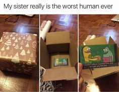 Image Result For Spongebob Box Meme Funny Birthday Pranks Brother Quotes