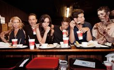 Laurie Holden, Andrew Lincoln, Sarah Wayne Callies, Norman Reedus and Jon Bernthal of AMCs The Walking Dead