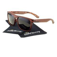 387d09c427e39 Amazon.com  Polarized Flat Top Sports Anti Glare Fake Faux Wood Print  Sunglasses By Sunclassy Impact Resistance Lenses FDA Approved – 100% Block  Of UVA