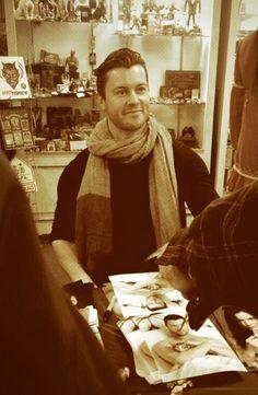 Dan Feuerriegel - Signing autographs for @KittCrusaders (source Dan's Twitter)