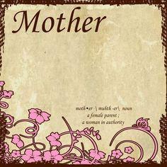 Mother Scrapbook Paper