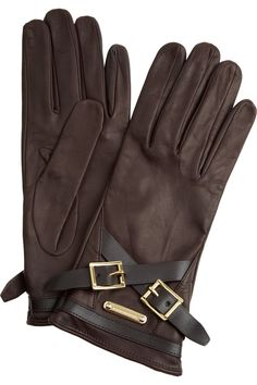 f9eeed53613 Burberry - Buckle-detailed leather gloves