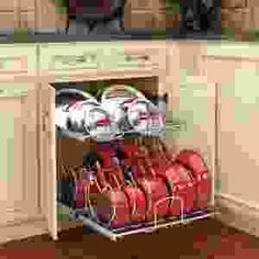 How to get more storage in your kitchen cabinets Tips And Tricks, Upper Cabinets, Base Cabinets, Storage For Rent, Let Them Talk, Let It Be, Organizing Hacks, Budget, Fancy