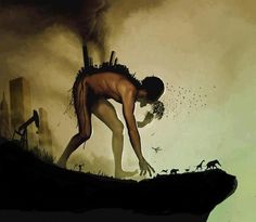 Humans....messing up the world.... very powerful picture