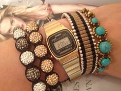 Casio watch with bracelets