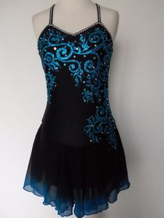 NEW FIGURE ICE SKATING BATON TWIRLING DRESS COSTUME ADULT S #Unbranded