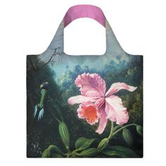 Heade: Orchid and Pair of Hummingbirds, Reusable Tote Bag | National Gallery of Art Shops | shop.nga.gov