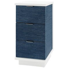 Bungalow 5 Cosmopolitan 3-Drawer Tower Side Table