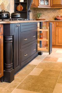 My Cabinets, Finally Found A Pic! From Marsh Furniture, Mixing Onyx Finish  With