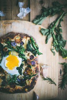 Rapini & Potato Pizza on Buttermilk Crust by Beth Kirby | {local milk}, via Flickr