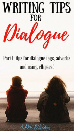 I love dialogue. It's always been one of my favorite writing craft elements. Here are some tips on dialogue tags, adverbs, and ellipsis! Writing Genres, Writing Characters, Editing Writing, Writing Quotes, Fiction Writing, Writing Advice, Writing Resources, Blog Writing, Writing Help