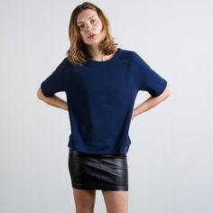 The Short Sleeve Sweatshirt - Navy – Everlane $30.00