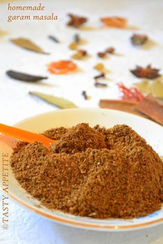 Healthy & flavorful Homemade GARAM MASALA mix  http://www.tastyappetite.net/2012/09/how-to-make-garam-masala-indian-spice.html