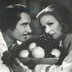 "John Gilbert y Greta Garbo en ""La Reina Cristina de Suecia"" (Queen Christina), 1933"