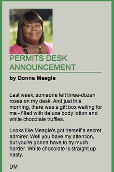 Donna Meagel telling it like it is...White chocolate is nasty!