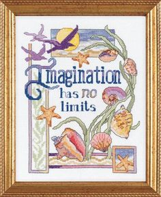 Imagination Has No Limits - Counted Cross Stitch