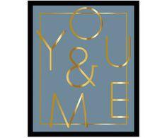 Gerahmter Digitaldruck You & Me