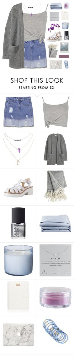 """""""briana"""" by symone-i ❤ liked on Polyvore featuring Boohoo, Wet Seal, Kofta, KEEP ME, NARS Cosmetics, Frette, Dogeared, Forever New, Forever 21 and Agent 18"""