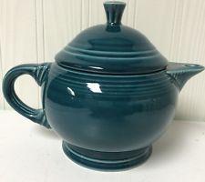 Homer Laughlin Fiesta 2 Cup Teapot Juniper (blue-green) Retired Fiestaware RARE