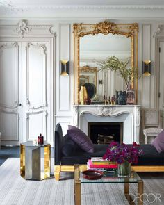 Kelli Wilde & Laurent Champeau. || THE DOORS AND THE DOOR FRAMES, THE CROWN MOLDING AND THE MIRROR...Yum! ♥A