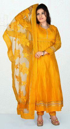 Ethnic Gold Color #Salwar #Kameez