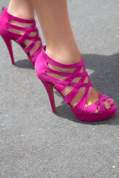 Pink high #heels                                           #shoes #fashion