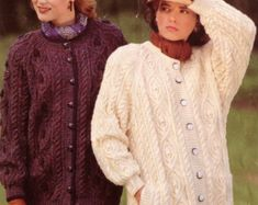 Items similar to Dog Sweater - Classic Fisherman Cable Knit - Aran on Etsy Tweed, Aran Knitting Patterns, Cable Knit, Snug, Fur Coat, Etsy, Pairs, Wool, Sweaters