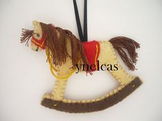 Christmas Ornament -  Rocking Horse with Rocker by  ynelcas on Etsy