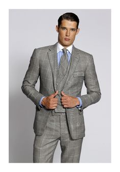 Ralph Lauren Purple Label glen plaid 3 piece suit. http://www.moderngentlemanmagazine.com/mens-suit-patterns/ #mens #suit #style