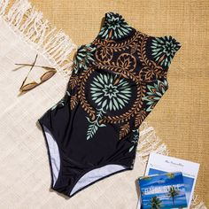 2019 Sexy One Piece Swimsuit Closed Print Swimwear Women Swimsuit Push Up Bathing Suit For Beach Or Pool Female Swimming Suit - Bikini Shop Online One Piece Bikini, One Piece Suit, Two Piece Swimsuits, One Piece Swimwear, Women Swimsuits, One Piece Swimsuit Flattering, Floral One Piece, Womens Bodysuit, Bathing Suits