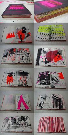 Sketch Book ARTBOOKS made from old sketchbooks screenprinting stencil - Logo And Identity, Behance Illustration, Illustration Art, Art Illustrations, Behance Branding, Behance Portfolio, Arte Punk, Buch Design, Arte Sketchbook