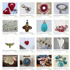 """I feel so touched that My Crochet Hearts with lavender were featured in this beautiful treasury with a story """"Keepsakes"""" by @richmakes """"Taking inspiration from a visit to the Coram Foundling Hospital Museum and National Archives. I've compiled this Treasury in response to the items Mothers left with their babies in the hope that they would be recognisable when older to be reunited"""" by ladyparmar"""