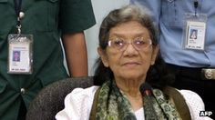 16 September 2012 Khmer Rouge ex-minister Ieng Thirith was released from prison after the court found her unfit to stand trial.
