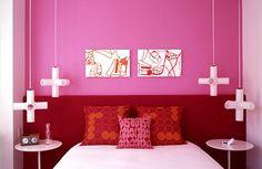 quarto rosa vermelho