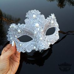 Take 10% off this mask, coupon available on our fan page. Follow store for info: http://www.etsy.com/shop/4everstore Our classic elegant resin with