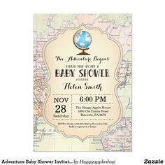 Shop Travel Bridal Shower Invitation created by Happyappleshop. Personalize it with photos & text or purchase as is! Baby Shower Invitations For Boys, Bridal Shower Invitations, Custom Invitations, Invitation Cards, Invitation Ideas, Modern Invitations, Invitation Wording, Invitation Design, Travel Bridal Showers