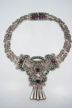 9481519b6 Matilde Poulat Matl Vintage Mexican Silver Double Chain Necklace (item  #1351600)