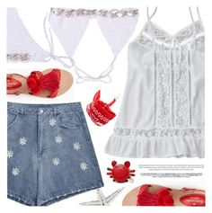 """""""Beach Party"""" by pokadoll ❤ liked on Polyvore featuring Forever 21 and Kate Spade"""
